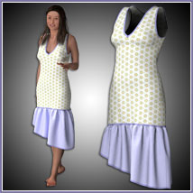 Claire Dress for Project Evolution - Poser image 3