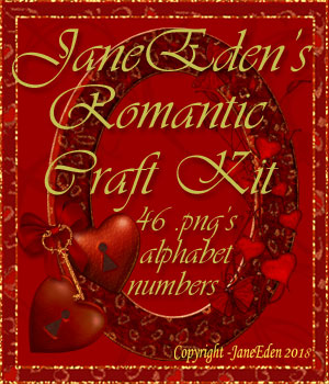 JaneEden's Romantic Craft Kit 2D Graphics 3D Models JaneEden