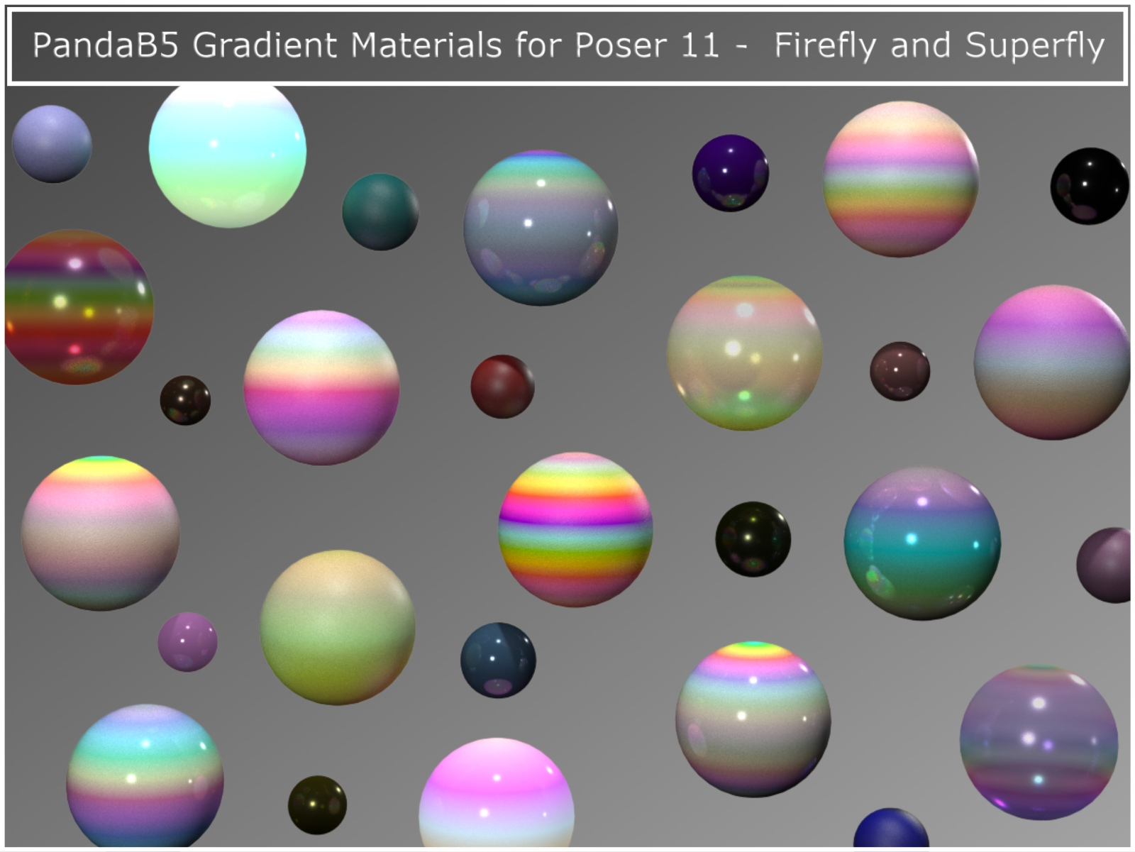 PandaB5 Gradient Materials for Poser