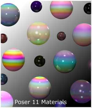 PandaB5 Gradient Materials for Poser 3D Figure Assets PandaB5