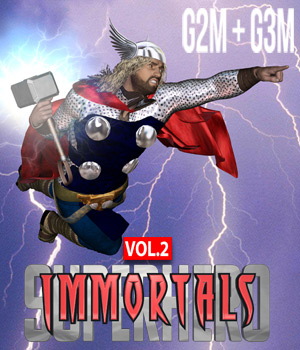 SuperHero Immortals for G2M and G3M Volume 2 3D Figure Assets GriffinFX