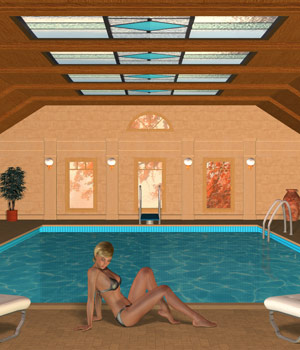 New Indoor Pool Set 3D Models Richabri