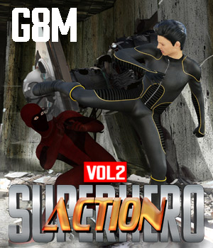 SuperHero Action for G8M Volume 2 3D Figure Assets GriffinFX