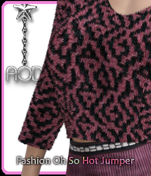Fashion: Oh So Hot Jumper for G3 and G8 Females 3D Figure Assets ArtOfDreams