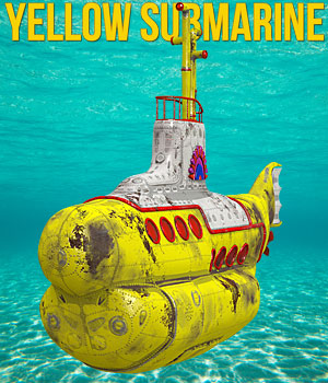 Yellow Submarine 3D Models Cybertenko