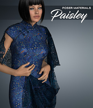 Poser - Paisley Prints 2D Graphics Merchant Resources Atenais