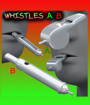 Whistles FBX_OBJ 3D Models uncle808us
