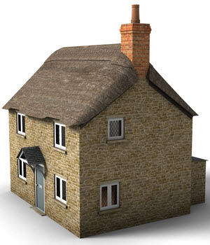 Thatched Cottage 3D Models DryJack