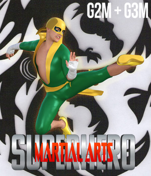 SuperHero Martial Arts for G2M and G3M Volume 1 3D Figure Assets GriffinFX