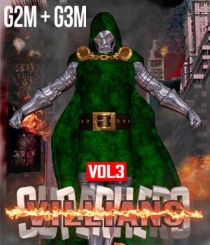 SuperHero Villians for G2M and G3M Volume 3 3D Figure Assets GriffinFX