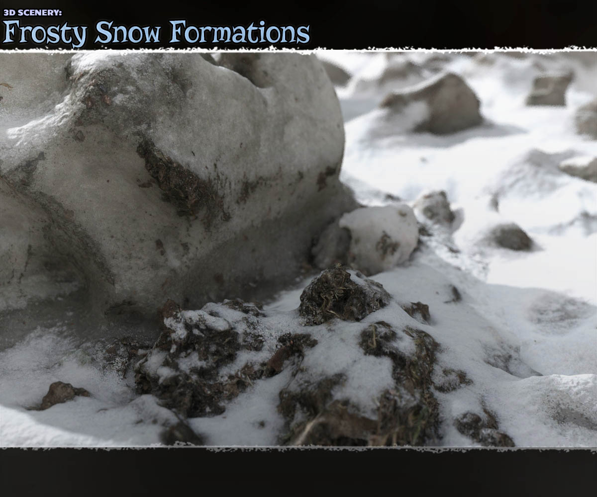 3D Scenery: Frozen Snow Formations
