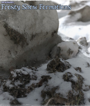 3D Scenery: Frozen Snow Formations 3D Models ShaaraMuse3D