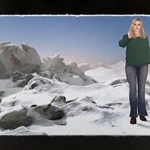 3D Scenery: Frozen Snow Formations image 1