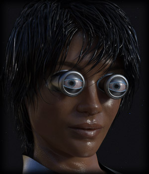 PROTOTYPE-X :-: Bionic Eyes for G8F 3D Figure Assets EdArt3D