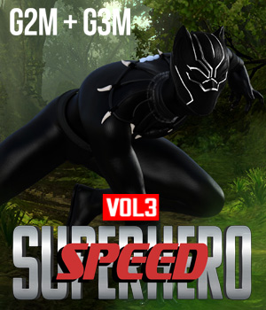 SuperHero Speed for G2M and G3M Volume 3 3D Figure Assets GriffinFX