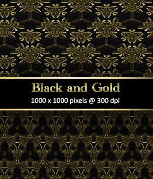 Black and Gold 2 2D Graphics Merchant Resources antje