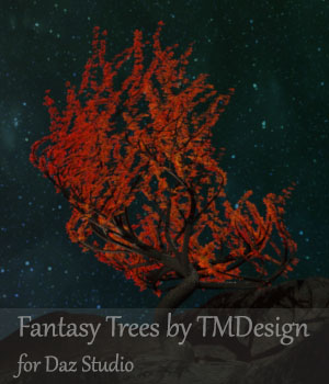 Fantasy Trees for Daz Studio 3D Models TMDesign