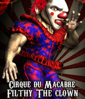Cirque du Macabre: Filthy the Clown Uni-Dwarf Add-on 3D Figure Assets RPublishing
