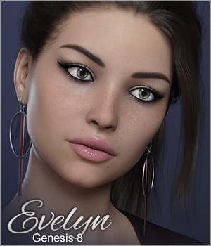 FWSA Evelyn for Genesis 8 3D Figure Assets Sabby