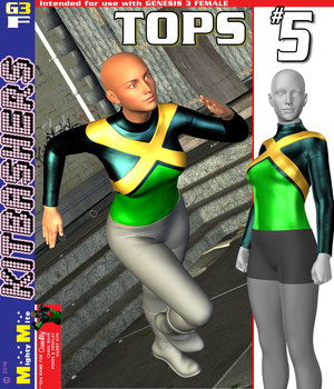 MMKBG3F Tops 005 3D Figure Assets MightyMite