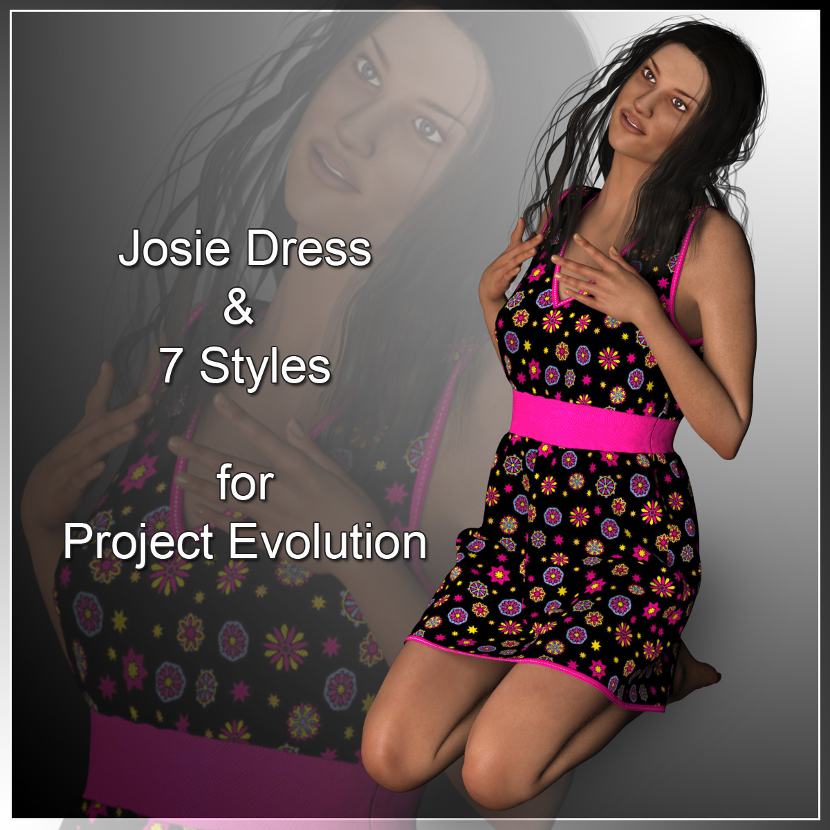 Josie Dress and 7 Styles for Project Evolution - Poser