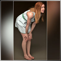 Josie Dress and 7 Styles for Project Evolution - Poser image 1