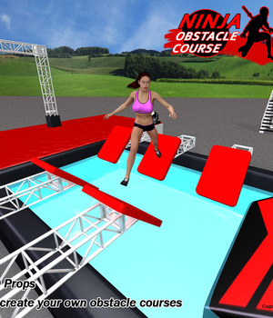 Ninja Obstacle Course 3D Models apcgraficos