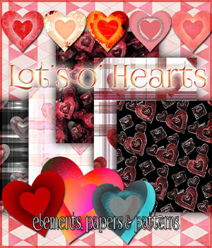 Lot's o' hearts 2D Graphics antje