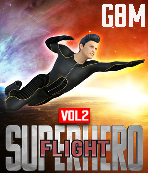 SuperHero Flight for G8M Volume 2 3D Figure Assets GriffinFX