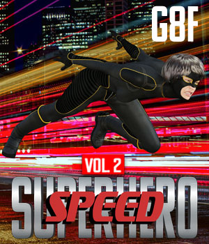 SuperHero Speed for G8F Volume 2 3D Figure Assets GriffinFX