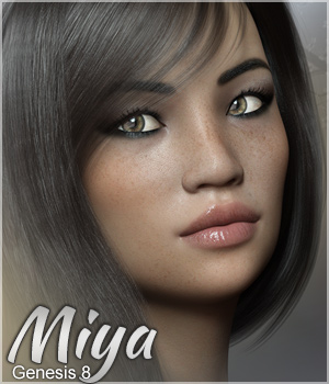 Miya for Genesis 8 3D Figure Assets Sabby