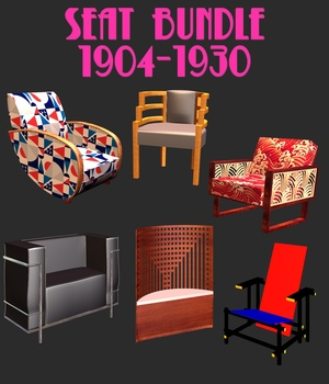 FAMOUS SEATS  BUNDLE 1 - EXTENDED LICENSE 3D Game Models : OBJ : FBX 3D Models Extended Licenses 3DClassics