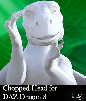 Chopped Head for DAZ Dragon 3 3D Figure Assets biala