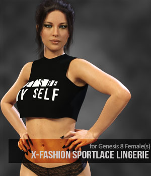 X-Fashion SportLace Lingerie for Genesis 8 Females 3D Figure Assets xtrart-3d