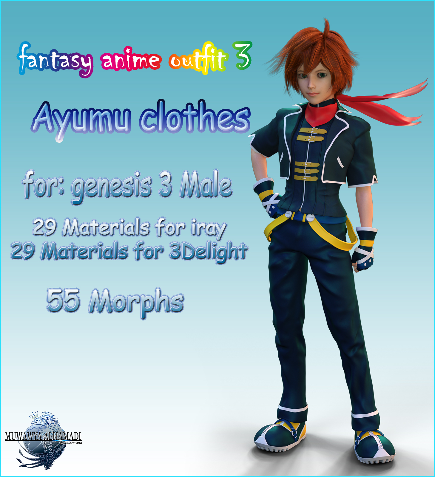 Fantasy-Anime-Outfit 3 _ Ayumu clothes_ for G3