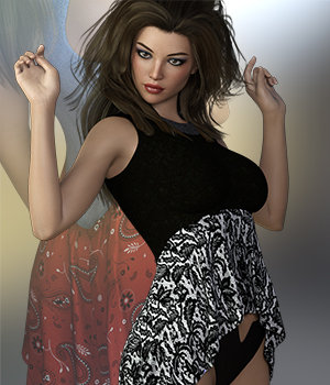 SublimelyVexed Prissy Shirt G8F 3D Figure Assets 3DSublimeProductions