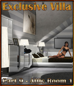 Exclusive Villa 9: Attic Room 1  3D Models 3-d-c