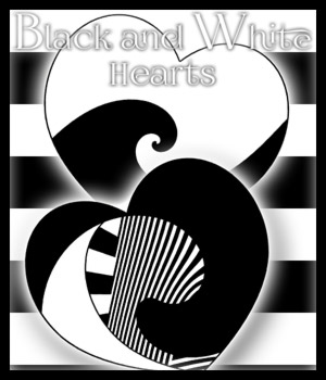 Black and White Hearts 2D Graphics antje