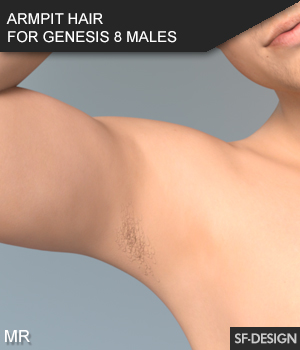 Armpit Hair for Genesis 8 Males and Merchant Resource 3D Figure Assets SF-Design