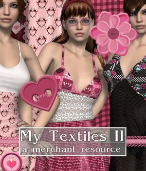 My Textiles II_Merchant Resource 3D Figure Assets Merchant Resources DivabugDesigns