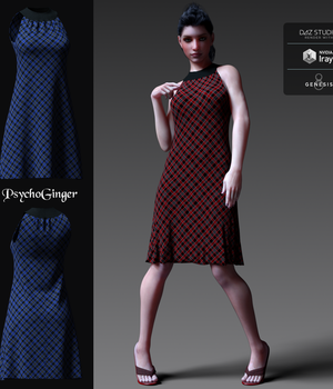 Easy Going Dress for G8F 3D Figure Assets PsychoGinger