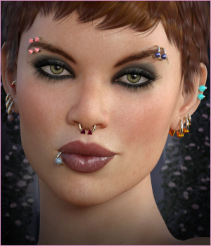 Dazzle for Piercings Base Pack DS 3D Figure Assets -Wolfie-