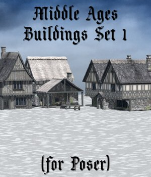 Middle Ages Buildings Set 1 for Poser 3D Models VanishingPoint