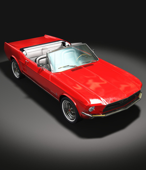 FORD MUSTANG CONVERTIBLE 1967 for Vue 3D Models 3DClassics