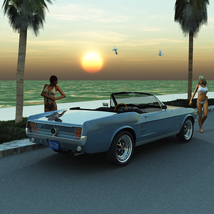 FORD MUSTANG CONVERTIBLE 1967 for Vue image 2