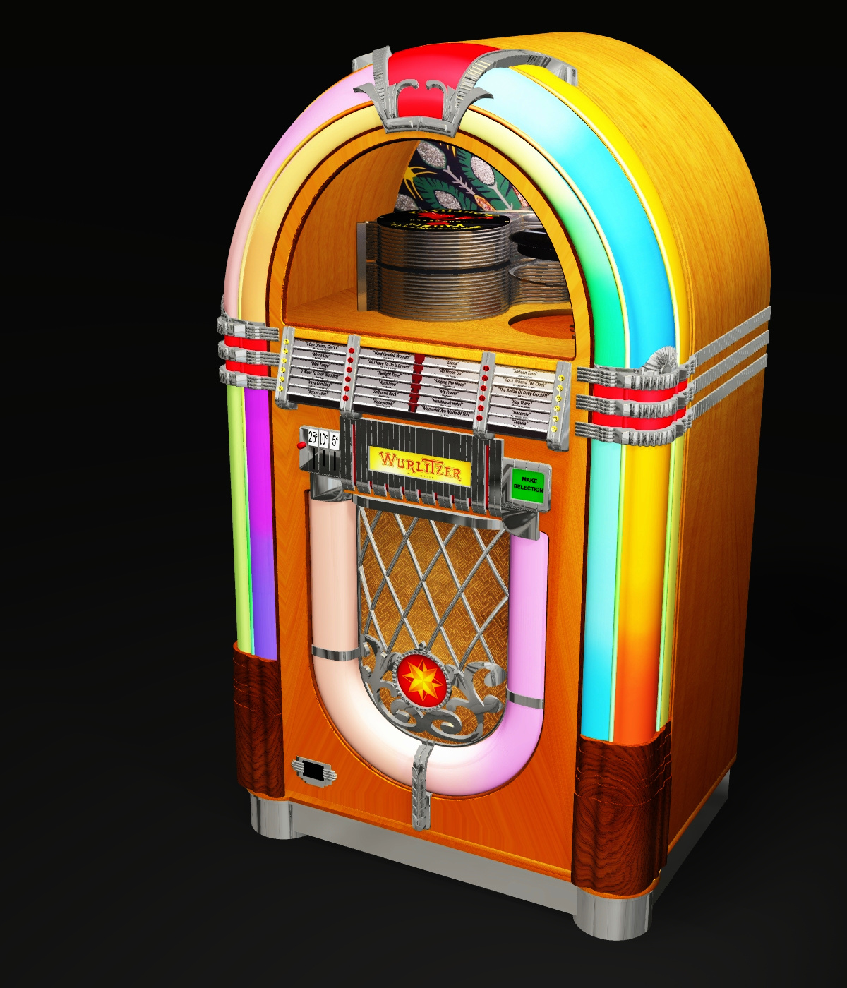 WURLITZER 1015 JUKEBOX OBJ & FBX (EXTENDED LICENSE) by 3DClassics