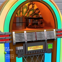 WURLITZER 1015 JUKEBOX OBJ & FBX (EXTENDED LICENSE) image 4