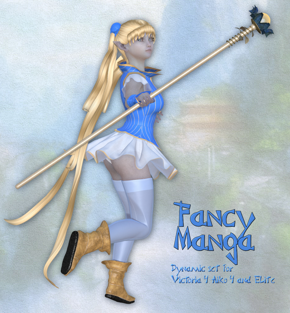 Fancy Manga_Clothing set for V4 A4 and Poser.