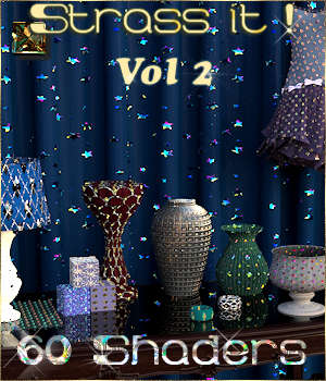 Strass it ! Vol2 - Shaders for DAZ - 3D Figure Assets Cyriona