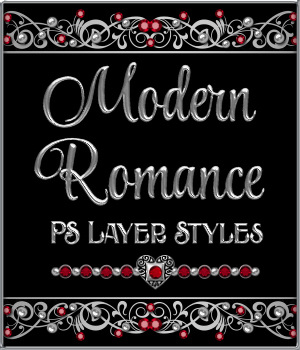 A Modern Romance PS Layer Styles 2D Graphics Merchant Resources fractalartist01